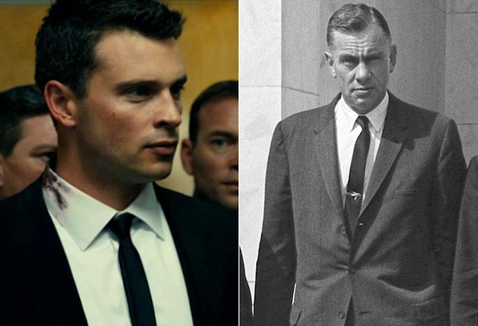 Tom Welling, left, plays Roy H. Kellerman in 'Parkland'