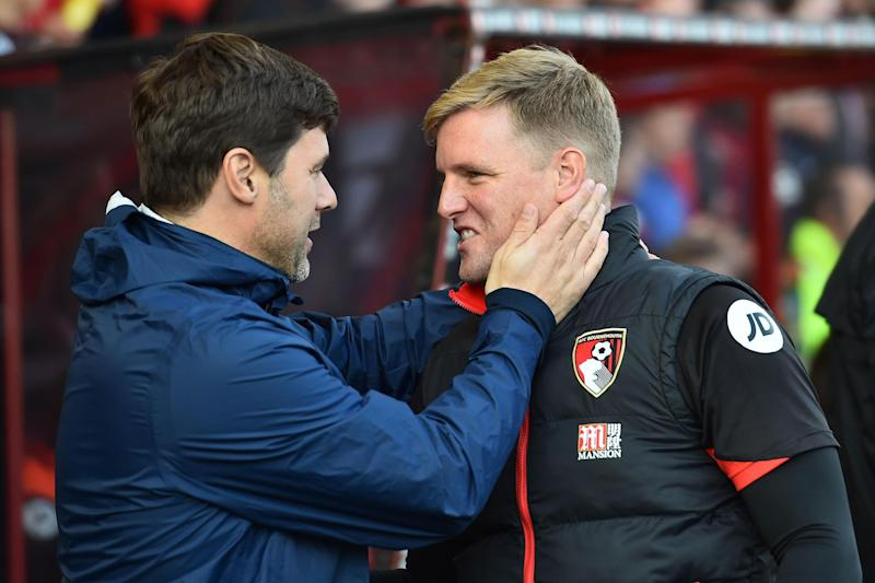 Respect | Mauricio Pochettino and Eddie Howe have praised each other in the build-up: GLYN KIRK/AFP/Getty Images