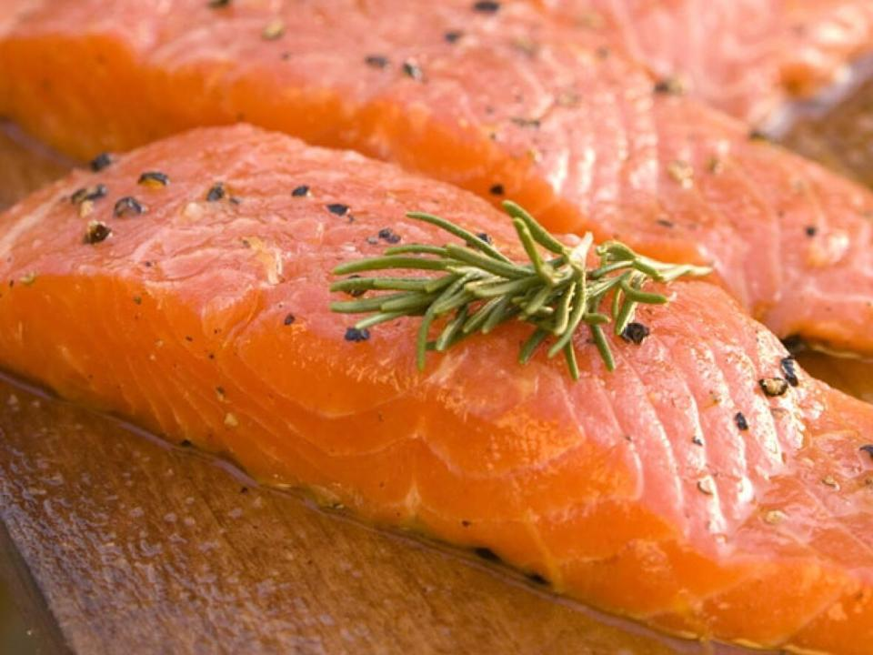 AquaBounty has said in the past that once its genetically modified salmon is harvested, it cannot be distinguished from regular salmon. (AquaBounty - image credit)