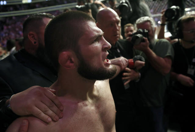 Khabib Nurmagomedov's actions at UFC 229 are likely going to cost him. (AP)