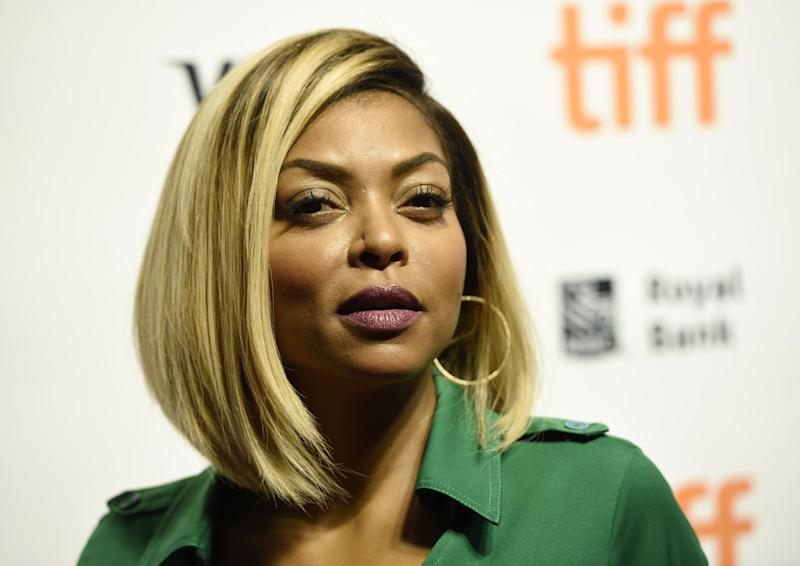 """Taraji P. Henson, a cast member in """"Hidden Figures,"""" poses at a photo call for the film on day 3 of the Toronto International Film Festival at the TIFF Bell Lightbox on Saturday, Sept. 10, 2016, in Toronto. (Photo by Chris Pizzello/Invision/AP)"""