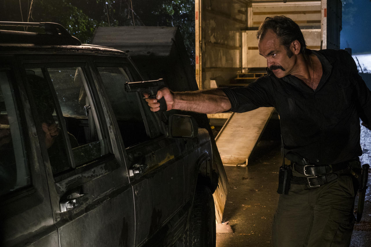 <p>Steven Ogg as Simon in AMC's <i>The Walking Dead</i>.<br />(Photo: Gene Page/AMC) </p>
