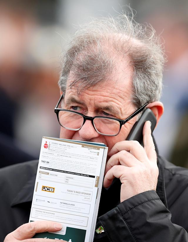 Horse Racing - Cheltenham Festival - Cheltenham Racecourse, Cheltenham, Britain - March 16, 2018 Owner J. P. McManus at Cheltenham Festival Action Images via Reuters/Matthew Childs