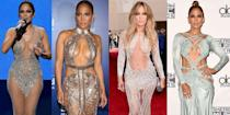 <p>Jennifer Lopez loved a nearly naked look more than your average celebrity, and that's just one of the reasons we're obsessed with her style. From red carpet naked dresses to super revealing bikinis, J.Lo knows how to werk it no matter what she's wearing. All we know is we want to look like her right now, let alone when we're 50. Here are her most naked outfits of all time.</p>