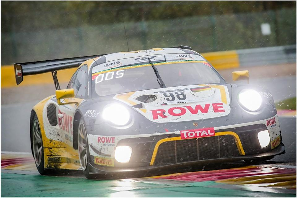 Rowe Porsche takes comeback victory at wet Spa 24