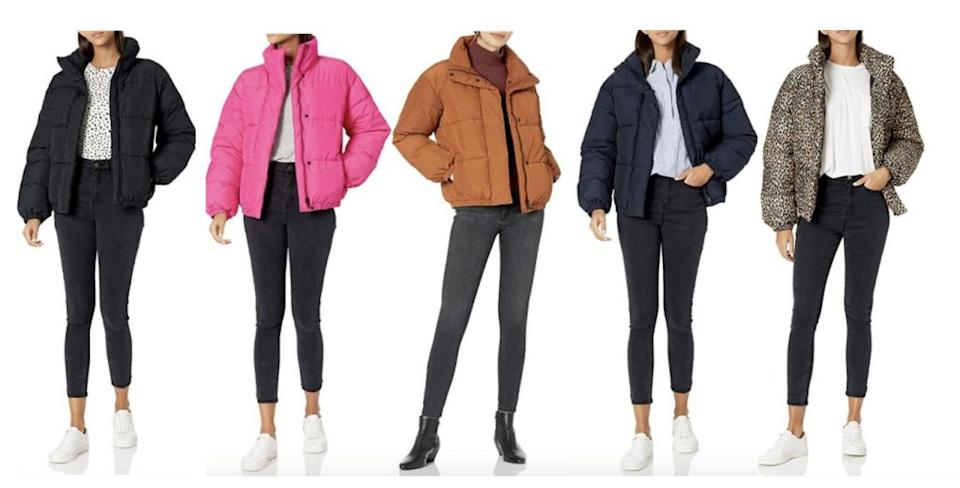 The Daily Ritual puffer comes in various colors. Credit: Amazon