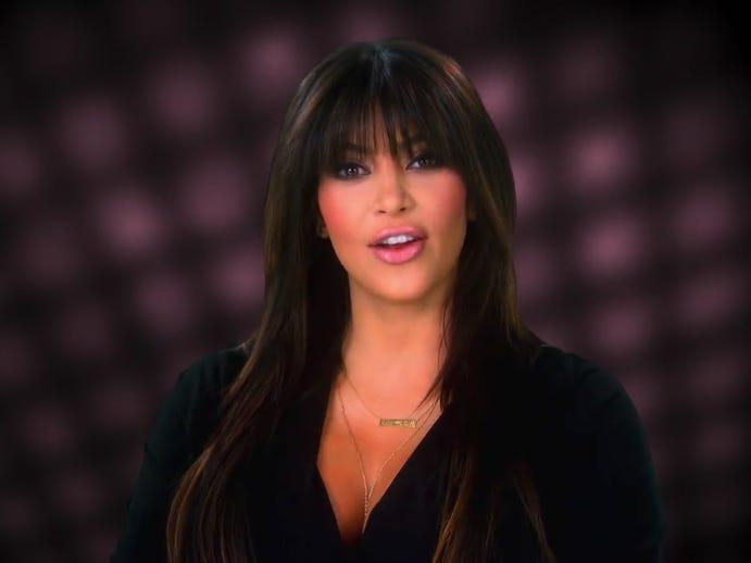 kim kardashian KUWTK bangs mom
