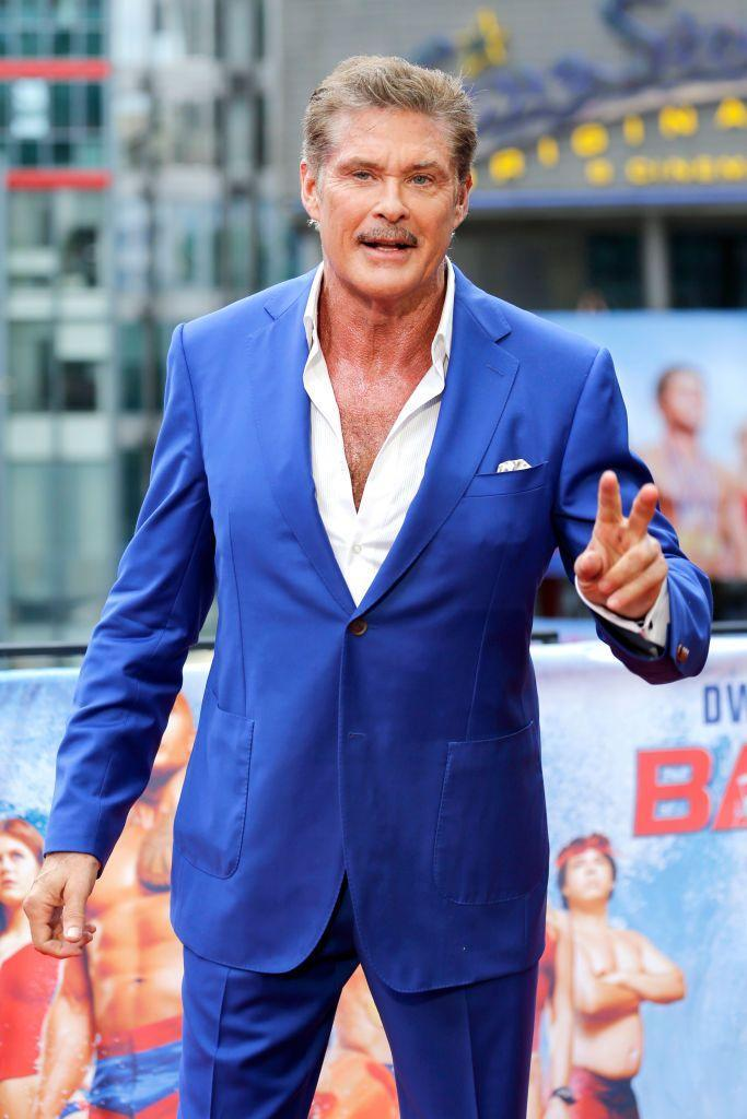 <p>The former <em>Knight Rider</em> and <em>Baywatch</em> star has gone through previous hair transformations... but a mustache will always be a classic. </p>