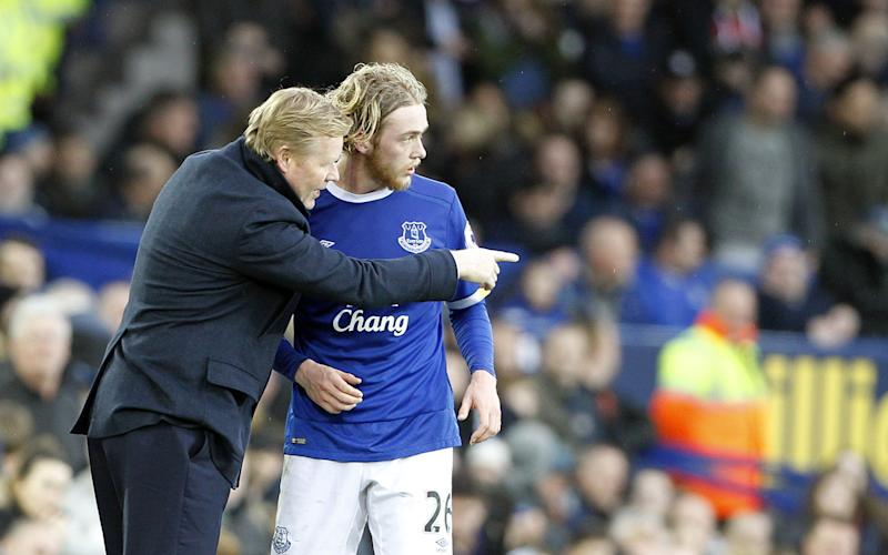Tom Davies and Ronald Koeman - Credit: Rex