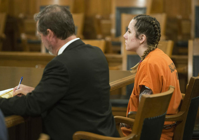 Bailey Boswell in court.