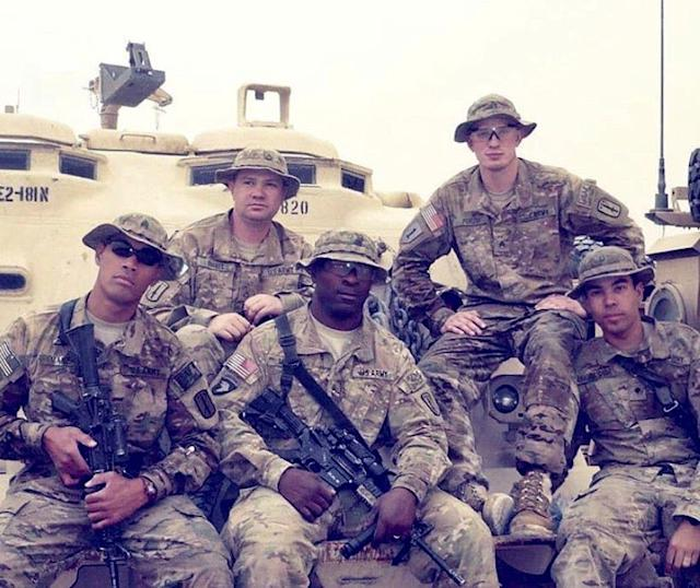 Richard Brookshire, far right, is shown during his deployment to Afghanistan in 2011, where as a combat medic he trained other medics.