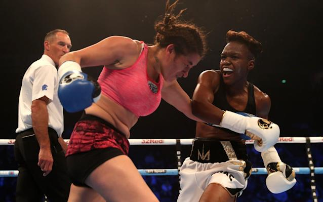 Olympic hero Nicola Adams wins in style on her professional debut