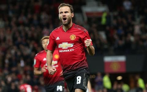 Juan Mata gives United the lead - Credit: Getty