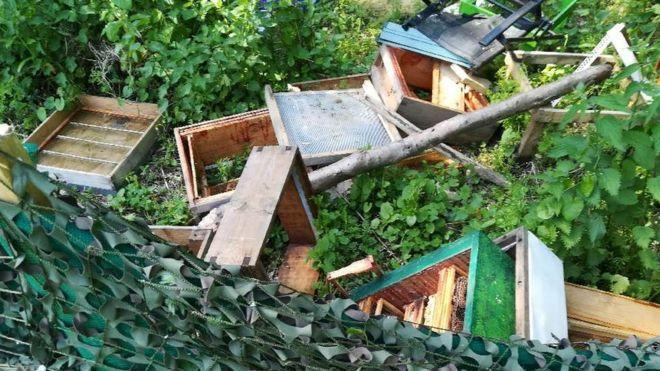 The vandals scaled a fence to destroy the hives (Northumbria Police)
