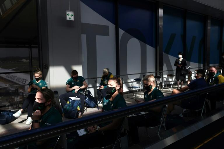 The players went straight from the plane for coronavirus testing