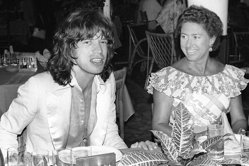Mick Jagger, Princess Margaret | JACQUES GUSTAVE/AFP/Getty