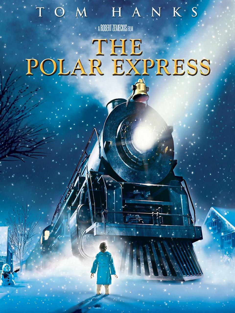 """<p><em>The Polar Express</em> features Tom Hanks in an animated adventure based on the <a href=""""https://www.amazon.com/Polar-Express-anniversary-Chris-Allsburg/dp/0544580141/?tag=syn-yahoo-20&ascsubtag=%5Bartid%7C10055.g.1315%5Bsrc%7Cyahoo-us"""" rel=""""nofollow noopener"""" target=""""_blank"""" data-ylk=""""slk:children's book"""" class=""""link rapid-noclick-resp"""">children's book</a> by Chris Van Allsburg. In the 2004 flick, a little boy takes a magical train ride to the North Pole.</p><p><a class=""""link rapid-noclick-resp"""" href=""""https://www.amazon.com/Polar-Express-Tom-Hanks/dp/B0011TNVLY/?tag=syn-yahoo-20&ascsubtag=%5Bartid%7C10055.g.1315%5Bsrc%7Cyahoo-us"""" rel=""""nofollow noopener"""" target=""""_blank"""" data-ylk=""""slk:WATCH NOW"""">WATCH NOW</a></p><p><strong>RELATED: </strong><a href=""""https://www.goodhousekeeping.com/life/parenting/g23363159/best-kids-movies/"""" rel=""""nofollow noopener"""" target=""""_blank"""" data-ylk=""""slk:60 Best Kids' Movies of All Time, From Old Classics to New Favorites"""" class=""""link rapid-noclick-resp"""">60 Best Kids' Movies of All Time, From Old Classics to New Favorites</a> </p>"""