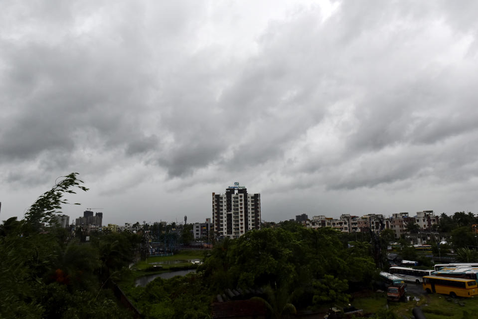 Dense cloud forms during Amphan super cyclone in Kolkata, India, 20 May, 2020. (Photo by Indranil Aditya/NurPhoto via Getty Images)