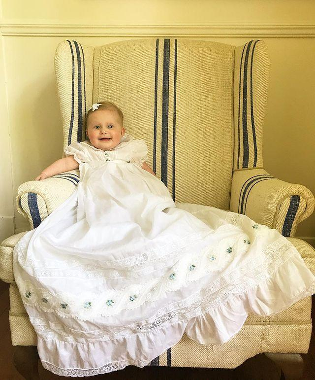 <p>No tears for Helen on her Christening day! </p>