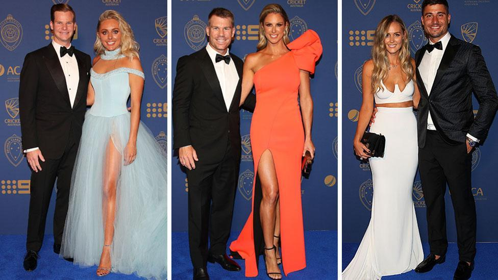 <p>Cricketing WAGs put on a show at Allan Border medal</p>