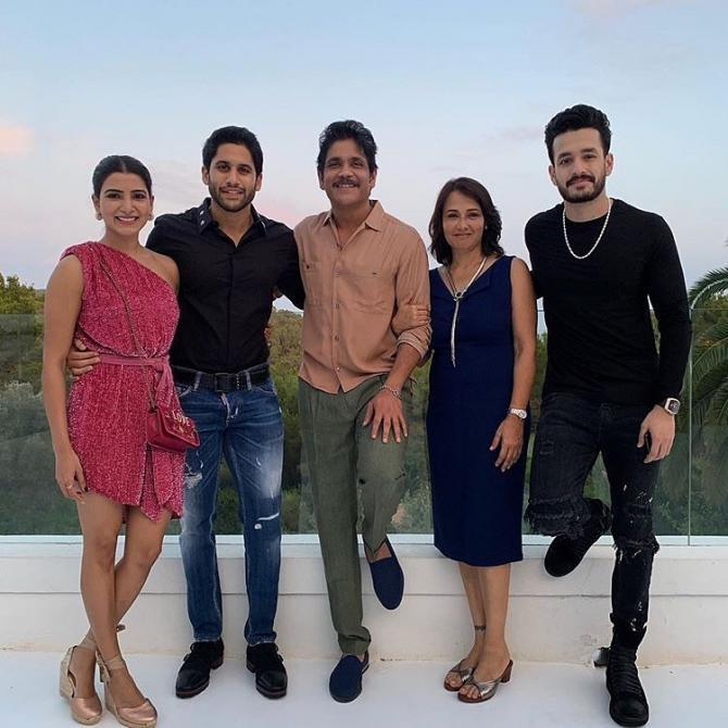 full family pic of Akkineni