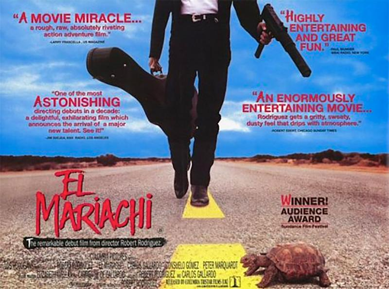 The poster for Robert Rodriguez's El Mariachi.