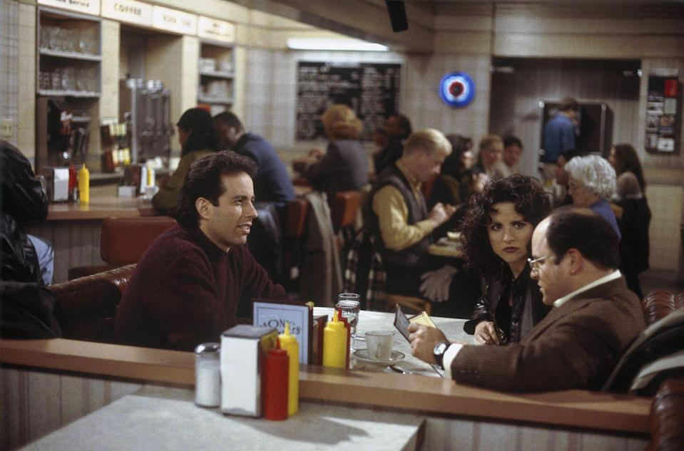 "<p><em>Seinfeld</em>'s Jerry, George, Elaine, and Kramer spent hours talking about nothing at Monk's, the Upper West Side diner around the corner from Jerry's apartment. It was at Monk's where the foursome made the famous bet for ""the contest."" Jerry and the gang visited plenty of other memorable eateries, including Babu's ""Dream Diner"" and who could forget the infamous Chinese restaurant? </p>"
