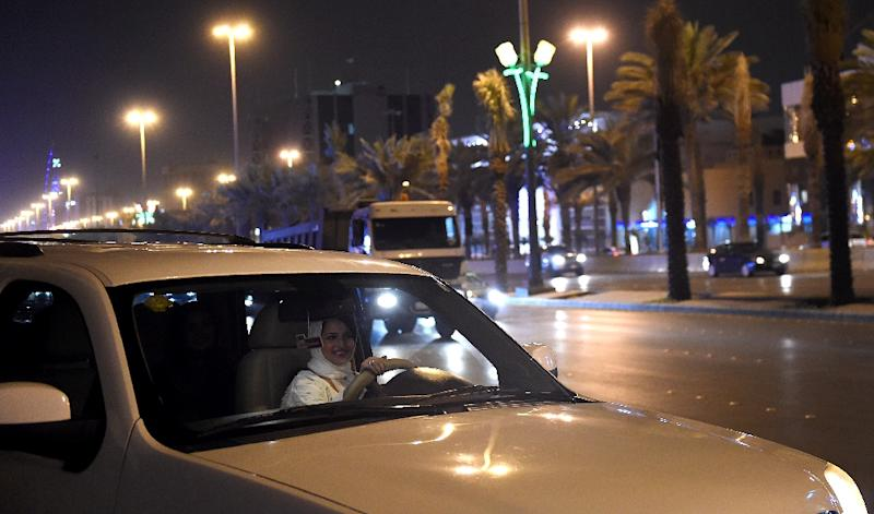 It's midnight in Riyadh, and Samar Almogren is making her way across the city she was born and raised in (AFP Photo/FAYEZ NURELDINE)