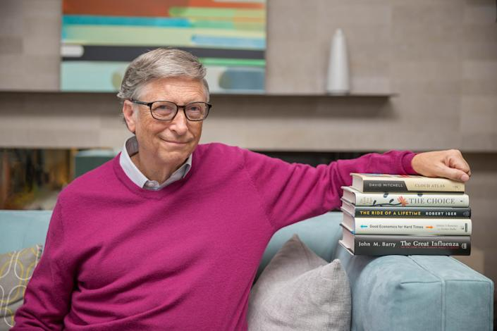 Bill Gates with his summer reading picks.