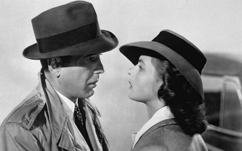 Humphrey Bogart and Ingrid Bergman in Casablanca (1942) - Credit: Corbis Historical