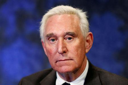 FILE PHOTO: Political advisor Roger Stone poses for a portrait following an interview in New York