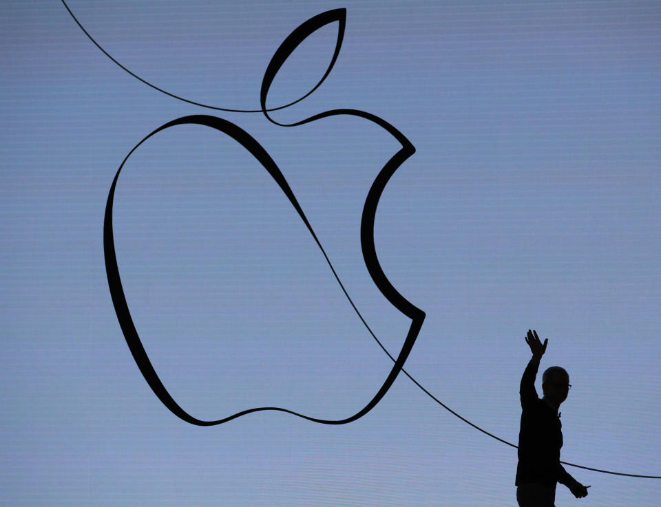 Earnings from Apple after the market close on Tuesday will be one of the week's highlights for investors. (AFP   JIM YOUNG)
