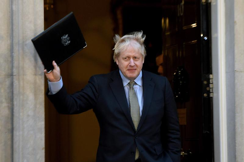 Boris Johnson outside No.10. (Photo: Anadolu Agency via Getty Images)