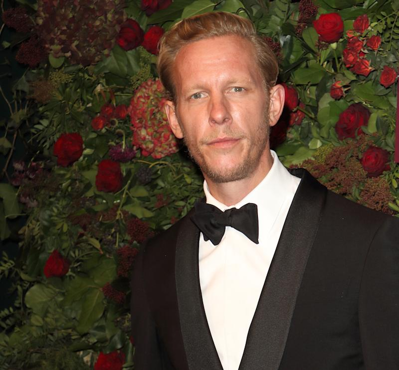 LONDON, UNITED KINGDOM - NOVEMBER 24, 2019: Laurence Fox attends the 65th Evening Standard Theatre Awards at the London Coliseum in London.- PHOTOGRAPH BY Keith Mayhew / Echoes Wire/ Barcroft Media (Photo credit should read Keith Mayhew / Echoes Wire / Barcroft Media via Getty Images)