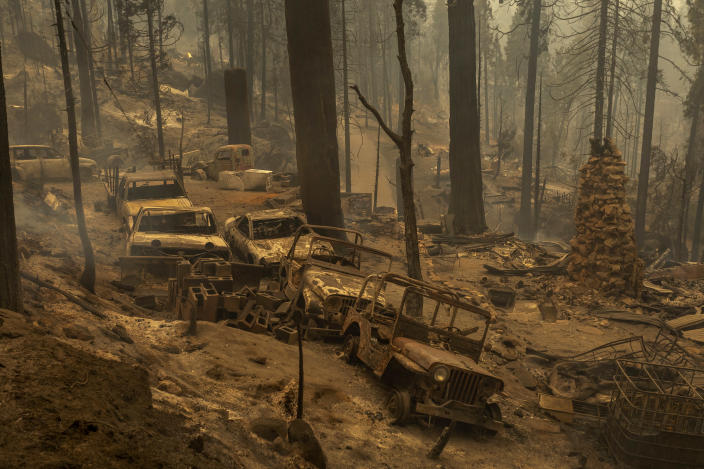 Devastation from the Creek Fire, near Shaver Lake, Calif. (David McNew/Getty Images)
