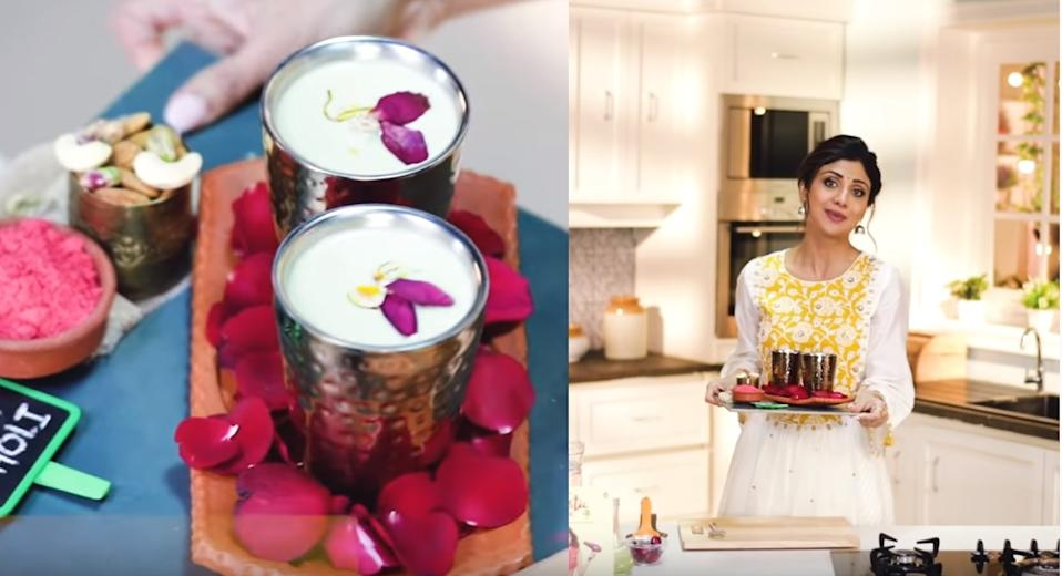 Almond milk thandai for Holi & other must-try recipes by Shilpa Shetty Kundra