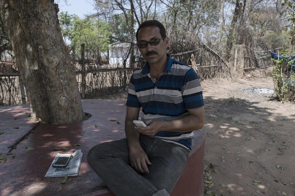 Malcolm Hourigan (45) runs a hostel for students and is also a blogger. He writes about the history of McCluskieganj and refuses to move elsewhere.