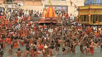 Pilgrims bathe in Ganges despite India Covid surge