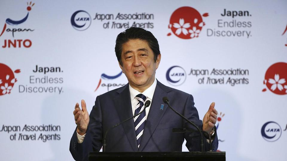 Japanese Prime Minister Shinzo Abe has arrived at a business dialogue in Sydney.