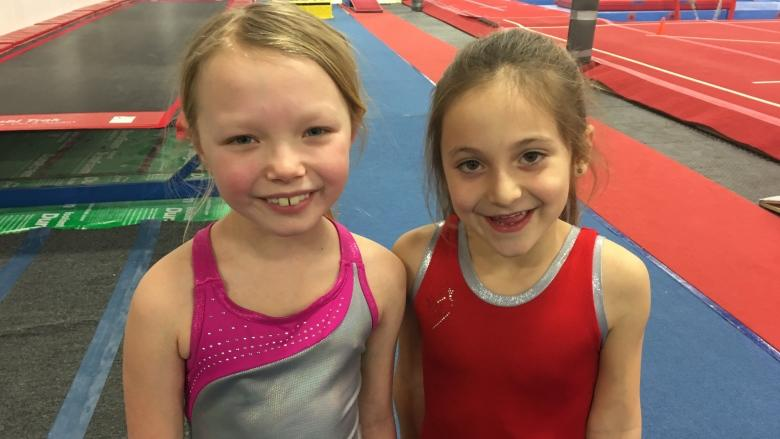 Young gymnasts jump for joy at a chance to see Olympian Nadia Comaneci in Windsor