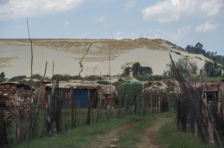 More than 200 mounds of earth contaminated with heavy metals, notably uranium, lie within sight of Johannesburg