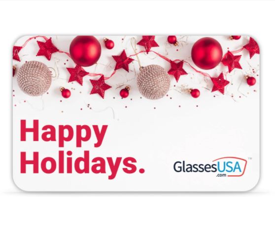 """<p>GlassesUSA</p><p><a href=""""https://go.redirectingat.com?id=74968X1596630&url=https%3A%2F%2Fwww.glassesusa.com%2Fgift-card&sref=https%3A%2F%2Fwww.delish.com%2Ffood-news%2Fg35056237%2Fshipping-delays-best-gift-cards%2F"""" rel=""""nofollow noopener"""" target=""""_blank"""" data-ylk=""""slk:Shop Now"""" class=""""link rapid-noclick-resp"""">Shop Now</a></p><p><strong>$100–$150</strong></p><p>There's always one person who — no matter how often you ask — always insists they don't need anything for the holidays. If they're not going to give you a wish list, give them a practical gift card to GlassesUSA.</p><p> (Whether they want to upgrade reading glasses or buy a fun pair of sunnies, this is one present they'll be happy to accept.)</p>"""