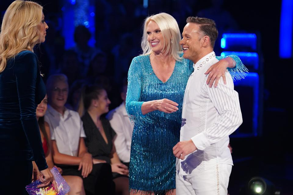 Tess Daly, Anneka Rice, Kevin Clifton.