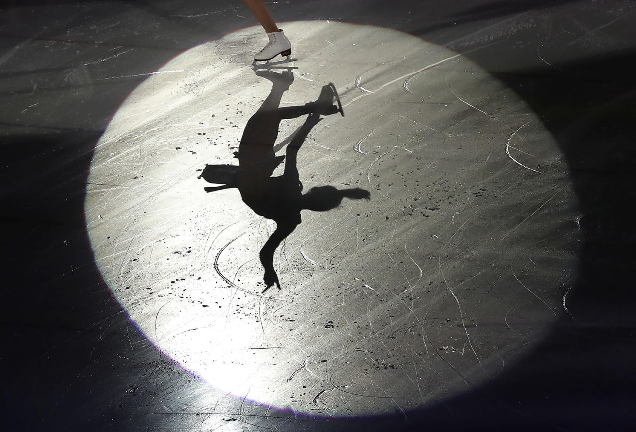 <p>Gold medalist Choi Da-bin of South Korea, winner of the Figure Skating Women's event performs during the closing ceremony of the Asian Winter Games at Makomanai Indoor Skating Rink in Sapporo, northern Japan, Sunday, Feb. 26, 2017. (Photo: Eugene Hoshiko/AP) </p>