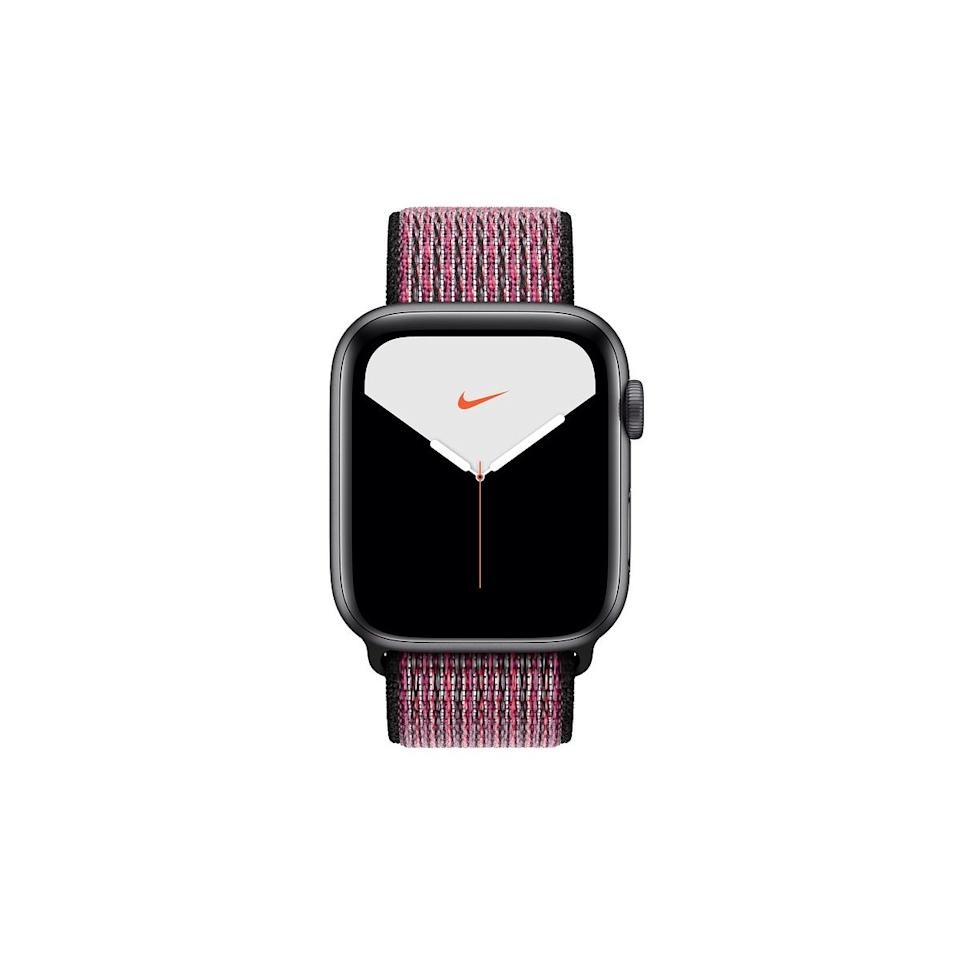 """$399, Apple. <a href=""""https://www.apple.com/shop/buy-watch/apple-watch?option.watch_cases=MWT72LL/A&option.watch_bands=MWU42AM/A&preSelect=false&product=Z0YQ&step=detail#"""">Get it now!</a>"""