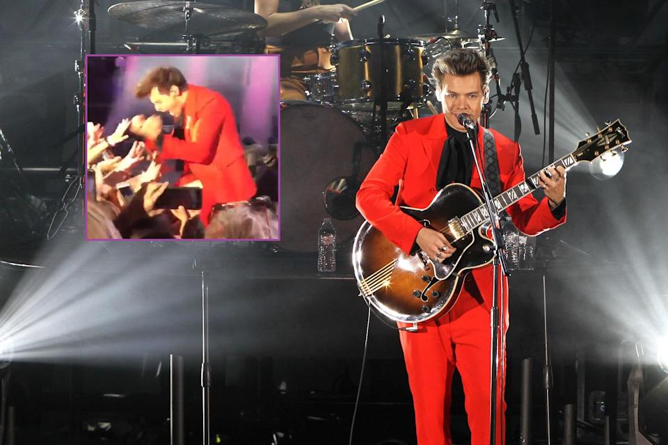 Harry was performing at the We Can Survive concert. Copyright: [Rex/ Twitter]