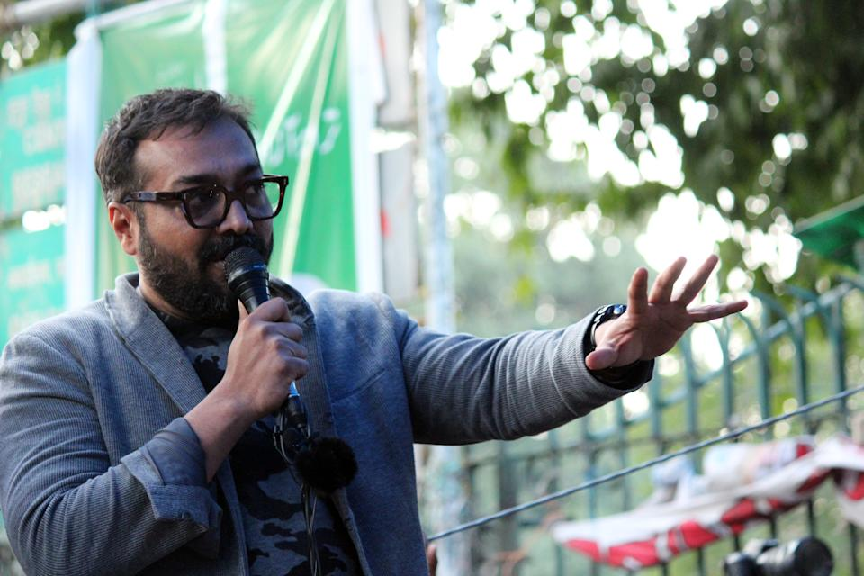 Bollywood filmmaker Anurag Kashyap participates in a peaceful protest against the controversial Citizenship Amendment Act (CAA), National Population Register (NPR) and National Register of Citizen (NRC) , at Jamia Millia Islamia University, on February 14, 2020 in New Delhi, India. The students of Jamia are also protesting against what they term repeated instances of alleged police brutality. (Photo by Mayank Makhija/NurPhoto via Getty Images)