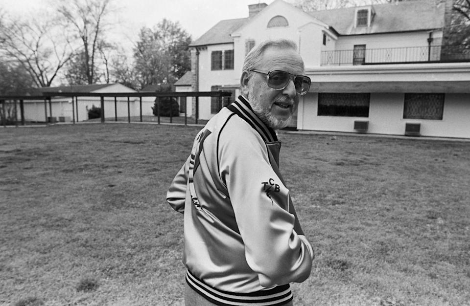 <p>Documentary crews were welcomed onto the Graceland estate to film <em>This Is Elvis </em>in 1981. It was the first time the public was given an intimate look at the property. </p>