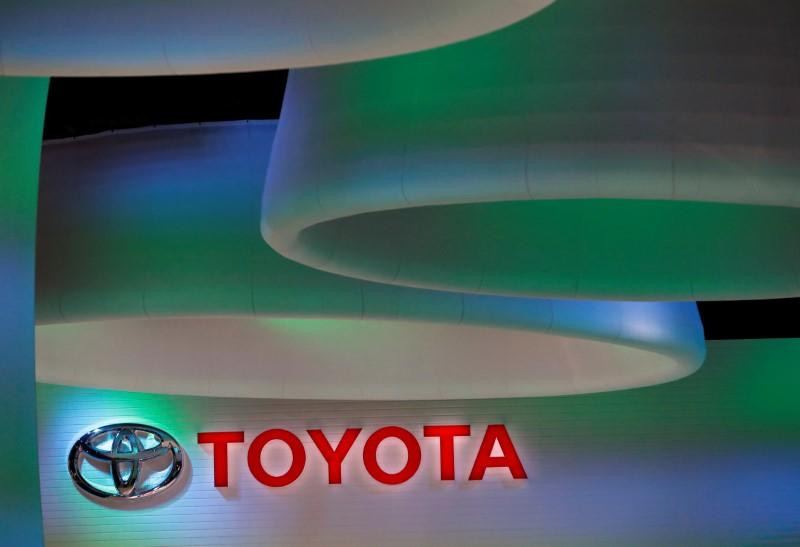 Toyota Motor's logo is pictured at the 45th Tokyo Motor Show in Tokyo, Japan October 27, 2017. REUTERS/Kim Kyung-Hoon
