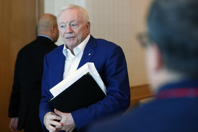 What will it take for white owners like Jerry Jones to speak out on the racism in this country? (AP Photo/Wilfredo Lee)